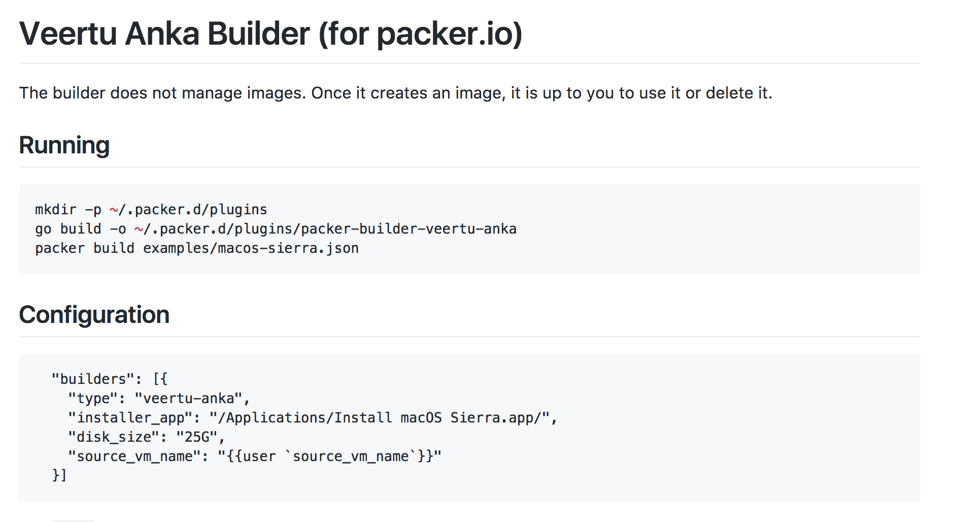 Packer Builder for macOS Anka VM